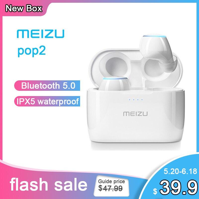 Meizu POP 2 Bluetooth 5.0 Earphone TW50S Global Version Wireless Earbuds IP5X In-ear Sports Earphone Headset For Xiaomi Samsung