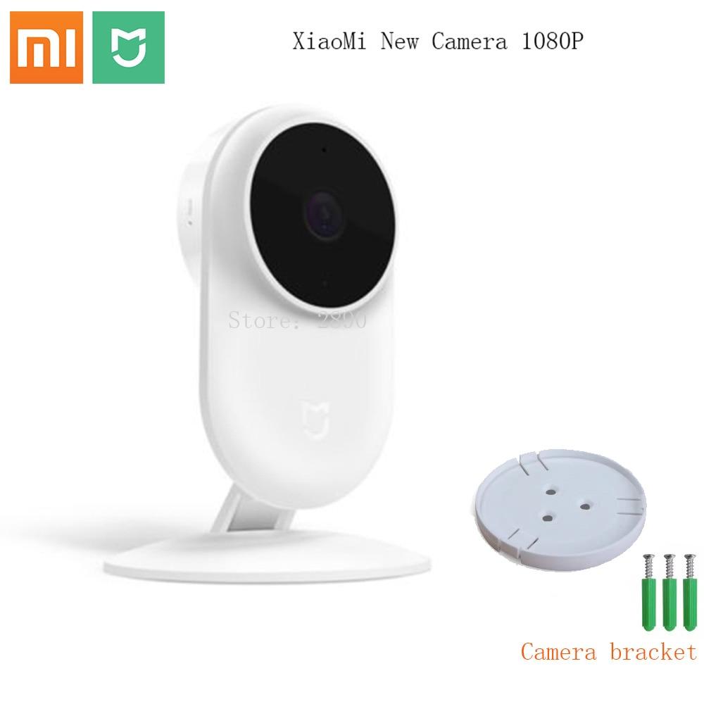 Webcam ip intelligente d'origine Xiao mi mi jia 1080P 130 degrés 2.4G Wi-Fi 10m Vision nocturne infrarouge + haut-parleur NAS mi c
