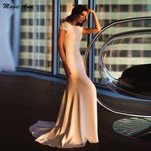 Женское атласное свадебное платье magic awn с открытой спиной