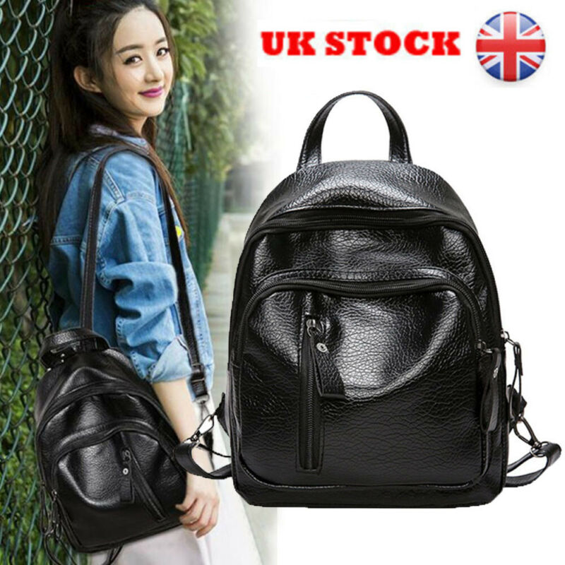 Fashion Shoulder Bag Rucksack PU Leather Pack Travel Bag Women Ladies