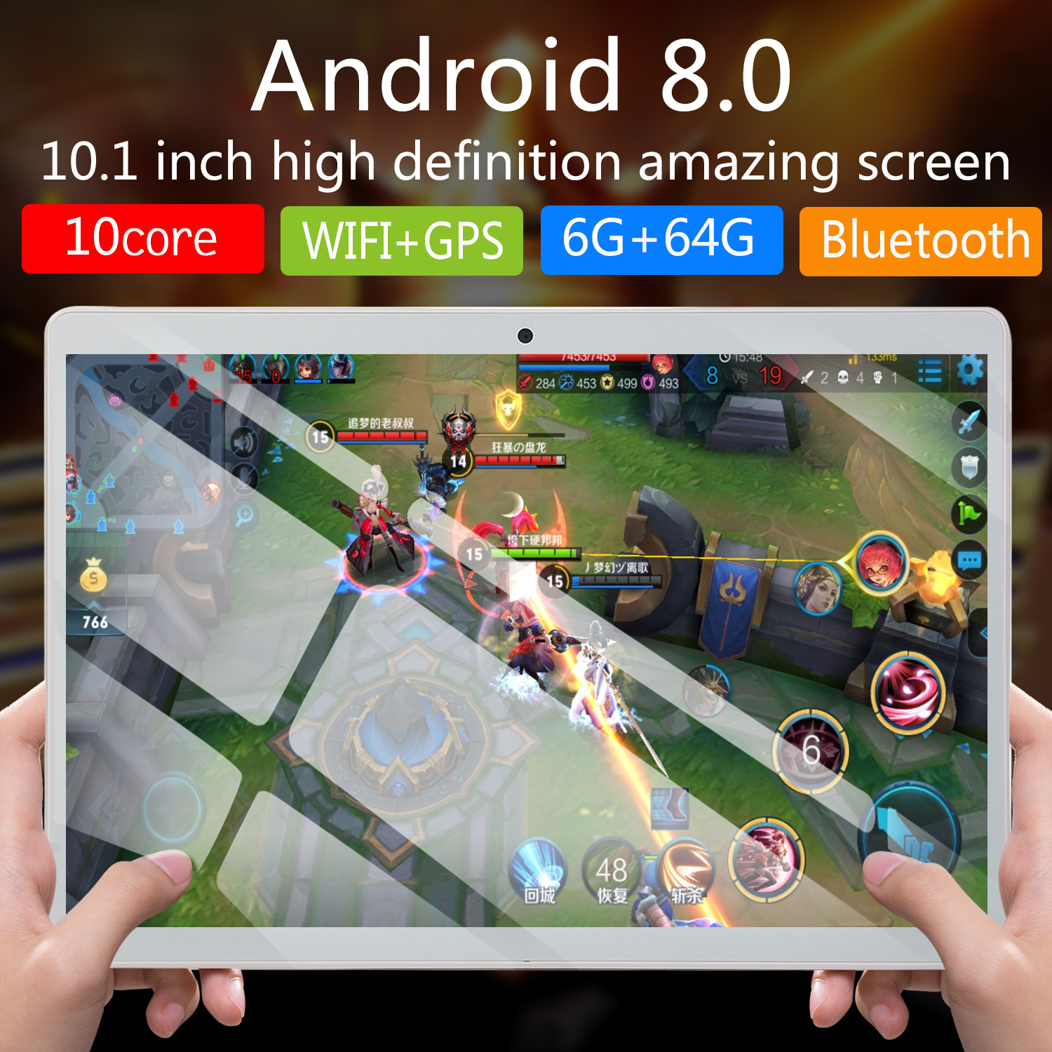 2020  New 10 Inch  Tablet Octa Core RAM 6GB ROM 16GB/64GB 4G Dual SIM Card Phone 4G Call Wifi Tablets PC Android 8.0