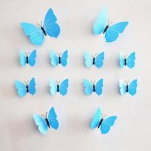 New 3d Butterfly Stereo Wall Decoration Simulation Butterfly Magnet Fridge Magnet(China)