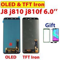 Cep telefonları ve Telekomünikasyon Ürünleri'ten Cep Telefonu LCD'leri'de 100% Test TFT demir J810 Samsung J8 2018 ekran dokunmatik ekran digitizer Samsung LCD Galaxy J810 J810F J810Y meclisi OLED