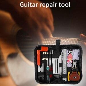 Image 5 - Alicate de manutenção de graves elétrico, kit de ferramentas de reparo profissional para cuidado com a guitarra, instrumento musical, régua de cordas, conjunto completo