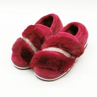 Women slippers winter shoes large size 36 41 plush suede warm shoes pink color casual shoes