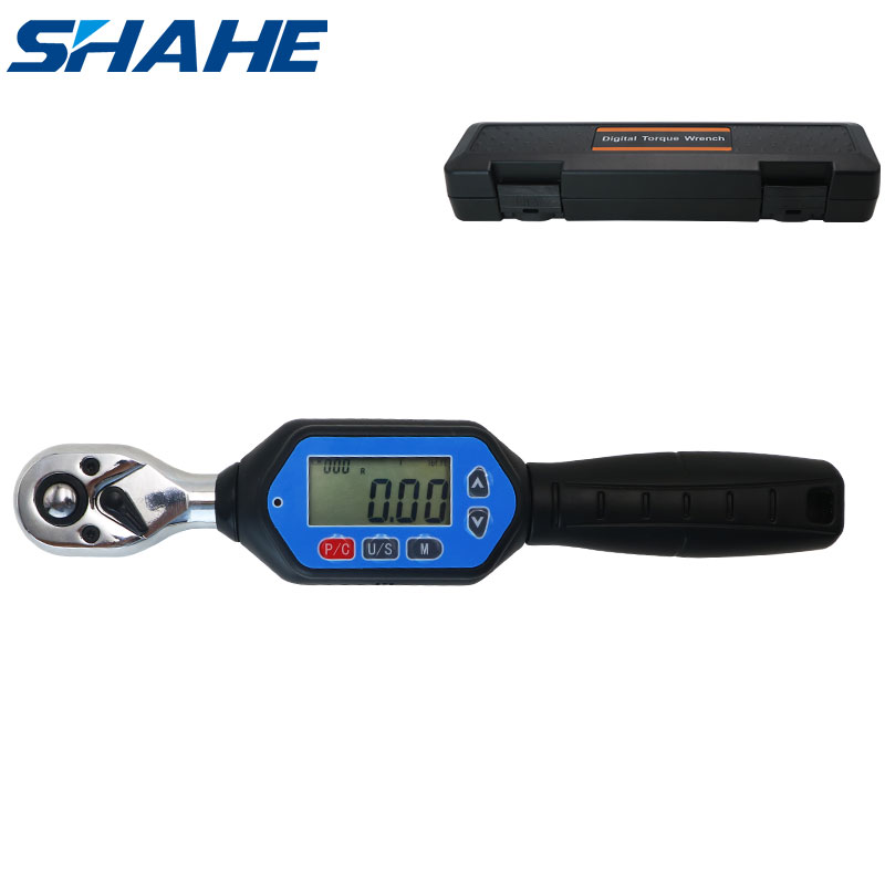 shahe MINI  digital torque wrench 1 4inch 3 8inch 1 2inch Professional bike car repair adjustable torque wrench Hand Tools