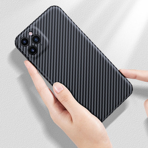 Image 5 - Luxe Real 3D Carbon Fiber Kevlar 0.6Mm Thiness Slim Sport Camera Lens Protectiove Case Cover Voor Iphone 12 11 12Pro 11Pro Max