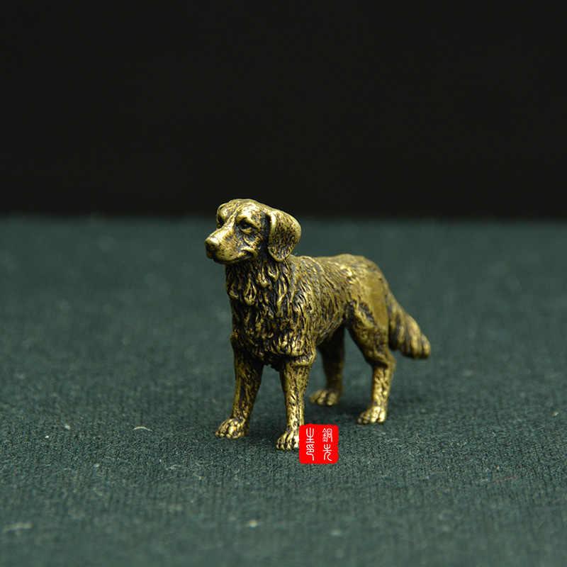 Hound Martillado Antiguo Acabado De Cobre Grandes Bebedero alimentación de mascotas