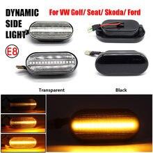Dinâmico led sinal de volta lado marcador luz sequencial piscando lâmpada do carro para volkswagen vw bora golf 3 4 passat 3bg polo sb6