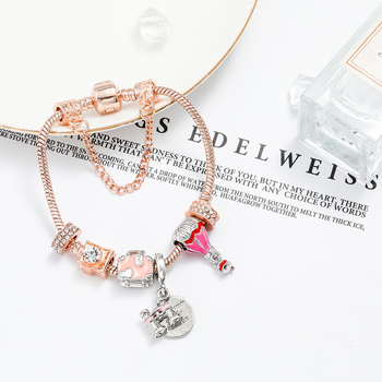 Telescope Charm Bangle For Women Girl Memorial Jewelry 3
