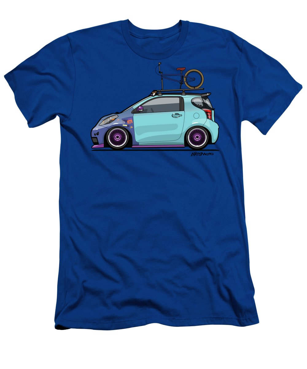 Toyota Scion Iq Slammed With Bmx Bike Men'S T-Shirt