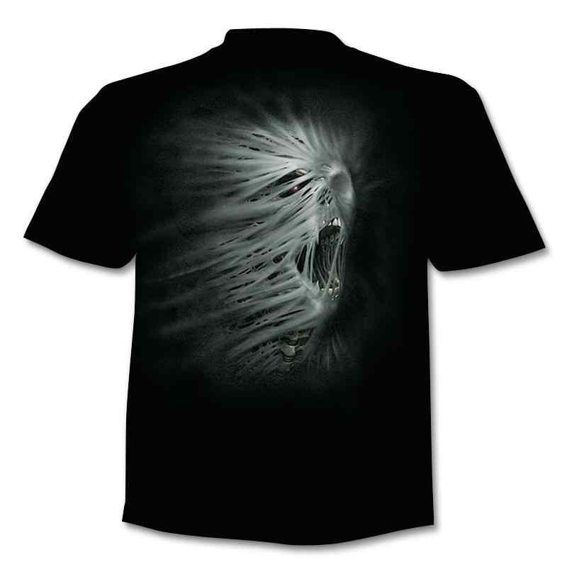 Nueva Camiseta con estampado de chaqueta falsa de 2020, en 3d calavera camiseta con, camiseta de manga corta de verano, camiseta superior de manga corta para hombres y mujeres