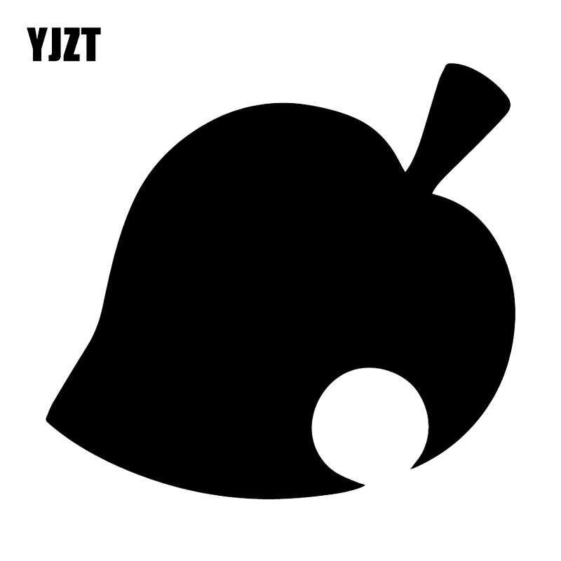 Yjzt 16 1x15cm Animal Crossing Leaf Funny Rear Windshield Vinyl