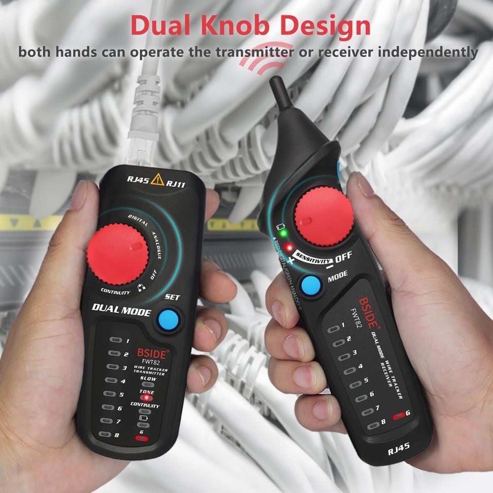 Network Line Wire Tracer Detector LAN BSIDE Professional Toner FWT82 Ethernet Tracker RJ45 Finder Telephone Tester Cable RJ11