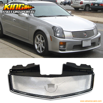Fit For 2003-2007 Cadillac CTS CTS V Stainless Mesh Grill Grille Brand New 03-07 USA Domestic Free Shipping Hot Selling image