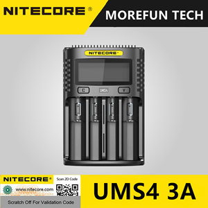 Image 5 - Periodo di tempo limitato Vendita Originale NITECORE UMS4 3A Intelligente Più Veloce di Ricarica Superb Caricatore con 4 Slot di Uscita Compatibile AA Batteria