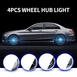 4X piasta światło koło samochodowe czapki światło pokrywa środka oświetlenie czapka pływające oświetlenie LED żarówka auto Car styling dla bmw benz Hyundai|Lampy dekoracyjne|Samochody i motocykle -