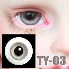 G10-112 kinder spielzeug bjd sd 1/3 msd 1/4 1/6 puppe der requisiten Accessoriess eyesball 14,16mm Black schüler glas augen grau farbe mit bo