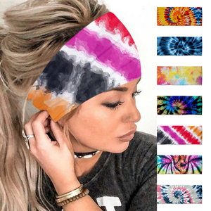 Women Girls Summer Boho Hair Bands Print Bohemian Cross Turban Bandage Bandanas Hair Accessories Headwrap Headwear Gift