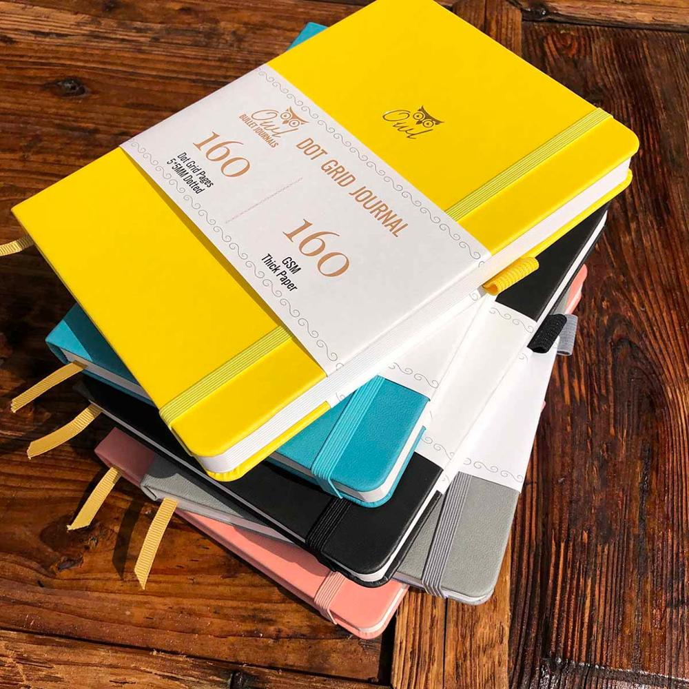 BUKE 5X5mm Journal Dot Gird Notebook 160 Pages, Size 5.7X8.2 Inch, 160Gsm Ultra Thick Bamboo Paper DIY Bujo Planner 2