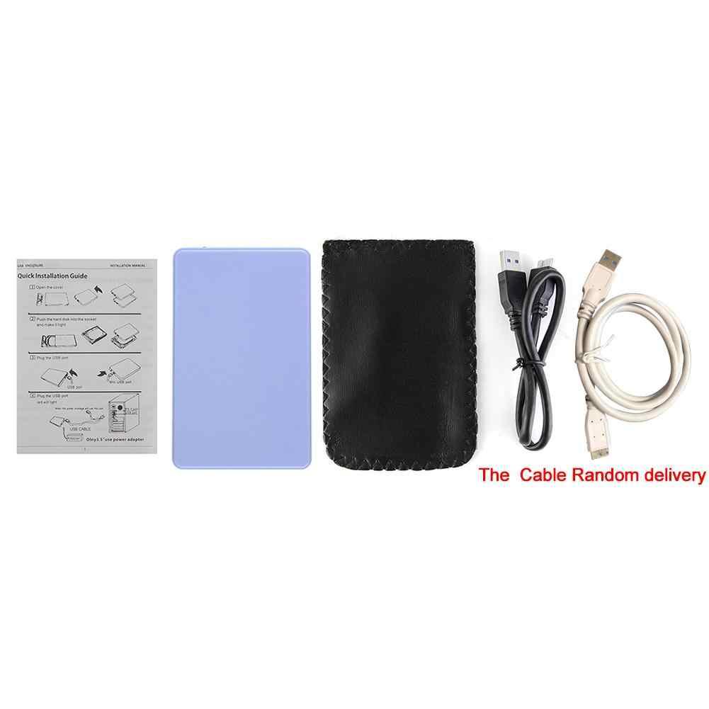 2,5 pulgadas SATA a USB HDD SSD Disco Duro caso carcasa SATA Disco Duro móvil caja de apoyo tornillo 2TB USB 3,0 controlador duro