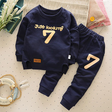 Autumn Winter Children Clothing Sets For Girls Long Sleeve Clothes Baby Boys Sets Cartoon T-shirt Pant Outfits Kids Clothes Sets cheap ALIJUTOU Casual Full Pullover Solid O-Neck LB588 REGULAR Coat COTTON Acrylic Fits true to size take your normal size Unisex