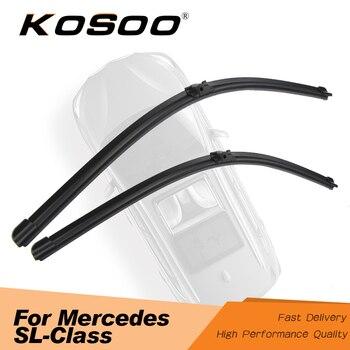 """Koio para mercedes-benz SL-clase R230 SL350 SL500 SL63 26 """"+ 26"""" 2003 a 2012 limpiaparabrisas para coche limpiaparabrisas cuchilla de ajuste con goma brazo pasador lateral"""