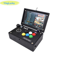 Raspberry Pi 3B + 10 inch arcade game LCD Video game console + arcade joystick + Pandora box 3D game