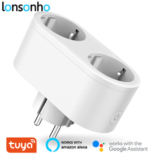 Lonsonho Wifi Smart Plug Smart Socket Tuya Smartlife App 16A EU KR Plug Power Monitor Energy Saver Works Google Home Mini Alexa