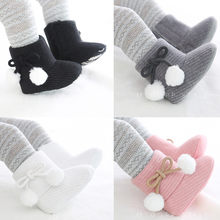 2020 Hot Winter Super Warm boots Newborn Baby Girls First Walkers Shoes Infant Toddler Soft Fur Snow Anti-slip Boots Booties(China)