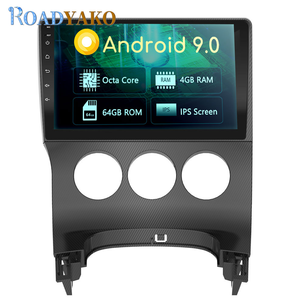 Android 9.0 9'' Autoradio 4G Car DVD Player <font><b>GPS</b></font> Navigation <font><b>For</b></font> <font><b>Peugeot</b></font> <font><b>3008</b></font> Car Stereo With WIFI /SWC/4G/Video Output/Car Link image