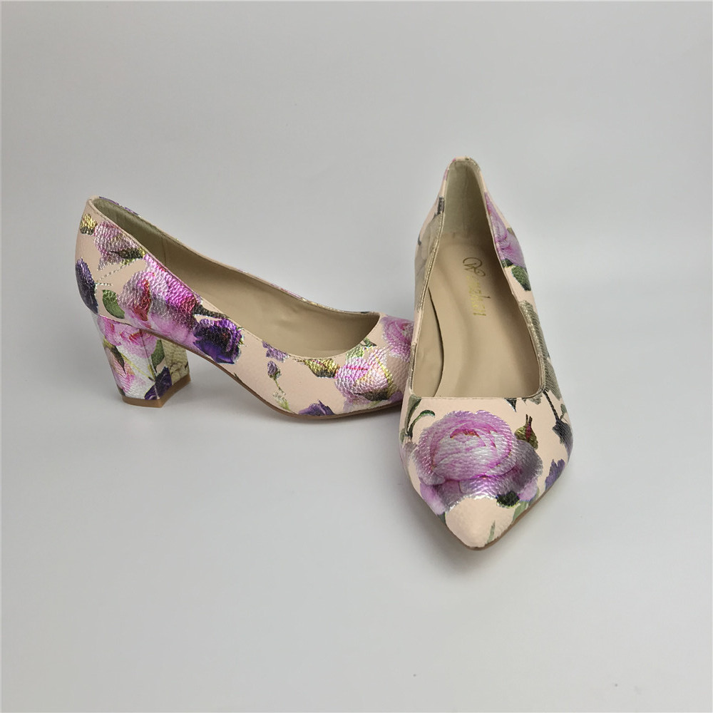 Image 5 - Women Pumps Hot Fashion Purple Flower Pointed Toe Thin High Heels  12CM Heels Pumps Good Quality 36 42 WENZHAN A99 6Womens Pumps   -