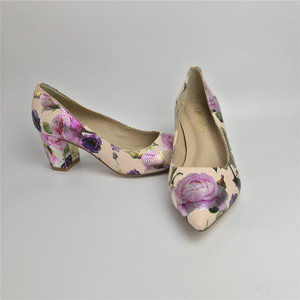 Image 5 - Women Pumps Hot Fashion Purple Flower Pointed Toe Thin High Heels 12CM Heels Pumps Good Quality 36 42 WENZHAN A99 6
