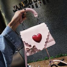 цена New Fashion Sweetheart Bow girls Crossbody Shoulder Bags Women Handbags PU Leather Small female Purse Ladies Messenger Bag 2019 в интернет-магазинах