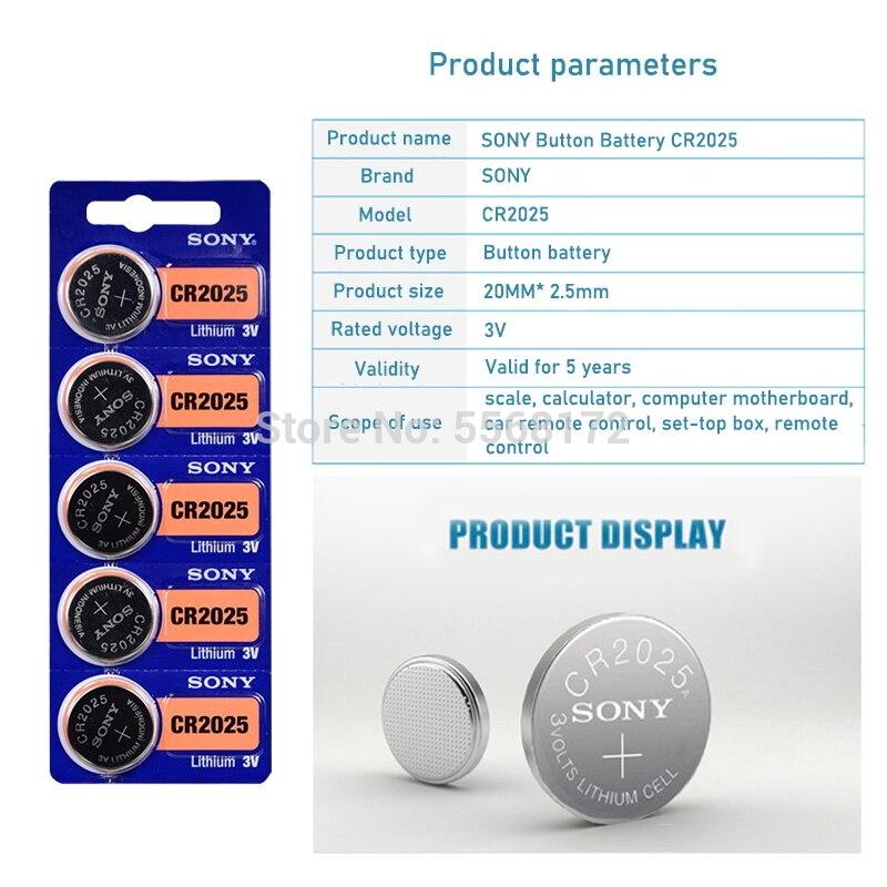 200 pces para sony original cr2025 botão