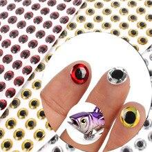 100pcs Fishing Lure Eyes 3D Holographic Lure Eye Realistic Plastic Eyes Artificial Simulation FishEye Pesca Fishing Accessories