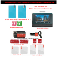 Für Origina 70mai Dash Cam A800 4K Zubehör Set Statische Aufkleber 3M Aufkleber Montieren 70Mai HD Weichen Nano-beschichtete Bildschirm Schutz