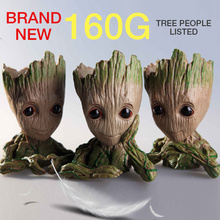 14cm Baby Flowerpot Guardians of The Galaxy Avengers tree man Hero Action Figures Model Toy Pen Pot Planter Flower Pot Gifts цена 2017