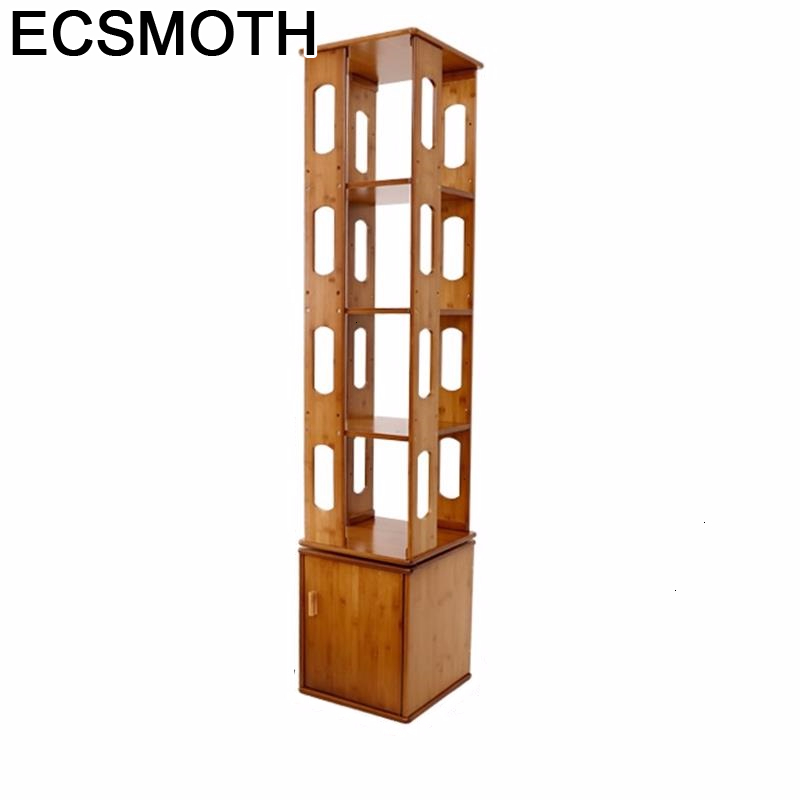 Storage Para Casa Shabby Industrial Decor Wood Rotate Rotatable Libreria Scaffale Librero Rack Bookcase Book Shelf Case