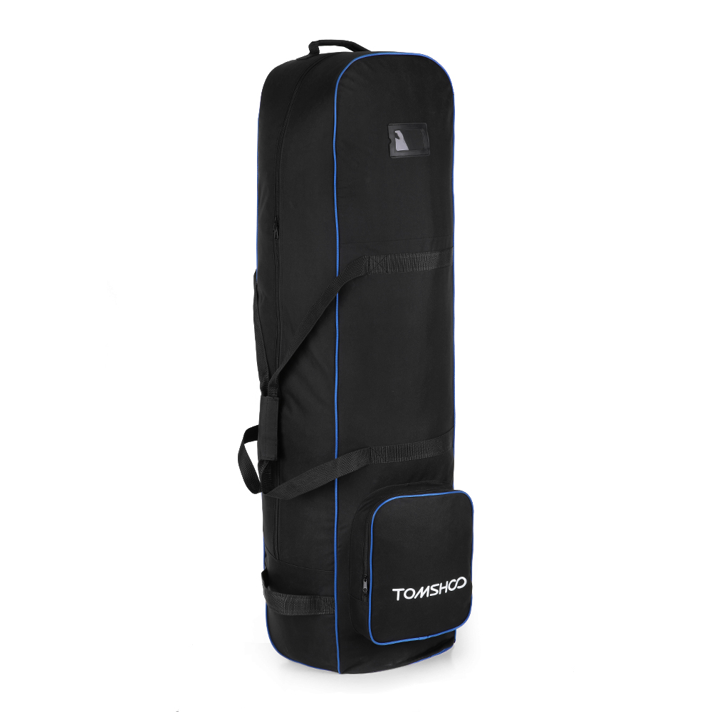 TOMSHOO Golf Bag Smooth Rolling Golf Travel Bag Cover Case Carrier With Wheels