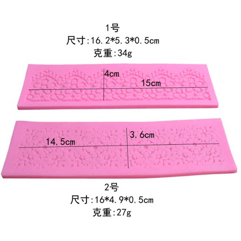 4YANG Flower Lace Silicone Mat Chocolate Mold Fondant Cake Mold DIY Baking Decorating Tools Kitchen Bakeware Sugarcraft Tools in Cake Molds from Home Garden