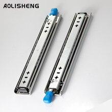 Aolisheng três-dobre totalmente estendido corrediças de gaveta resistentes com fechamento 53 mm empurre a carga aberta do trilho de corrediça da undermount 120kg