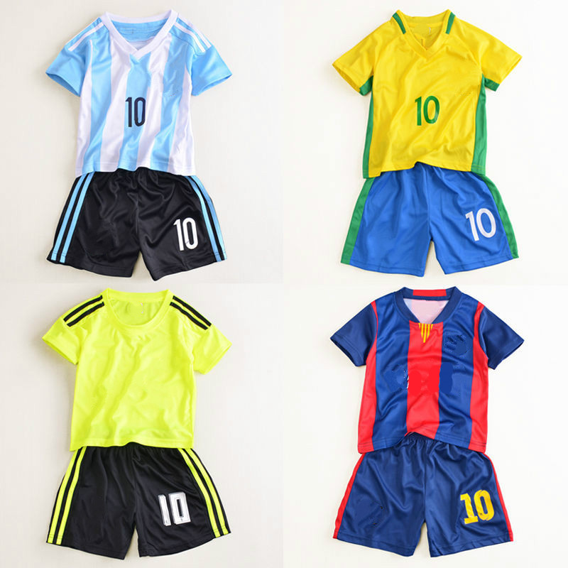 Fashion World Cup Children's Football Suit For Middle And Large Children's Clothing For Boy Baby's Jersey For Suit Boys Sports 1