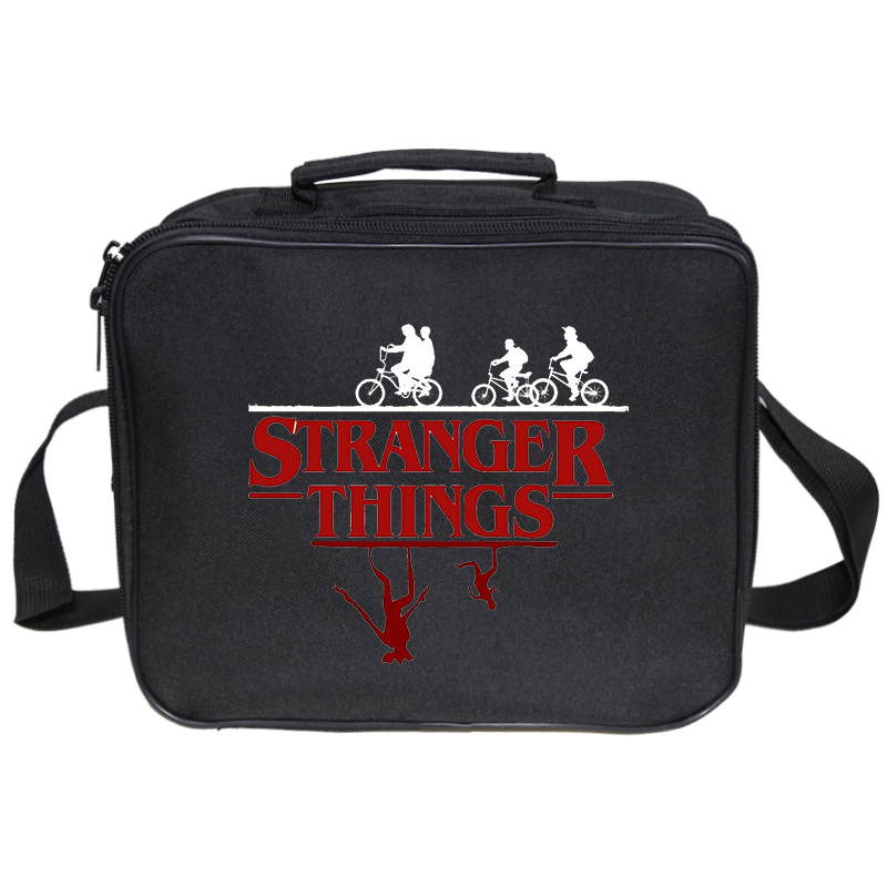 Kids Lunch Tote Stranger Things Insulated Lunch Bag For Women Large Fresh Keeping Bag Thermal Bag Food Picnic Bag Men Bento Box