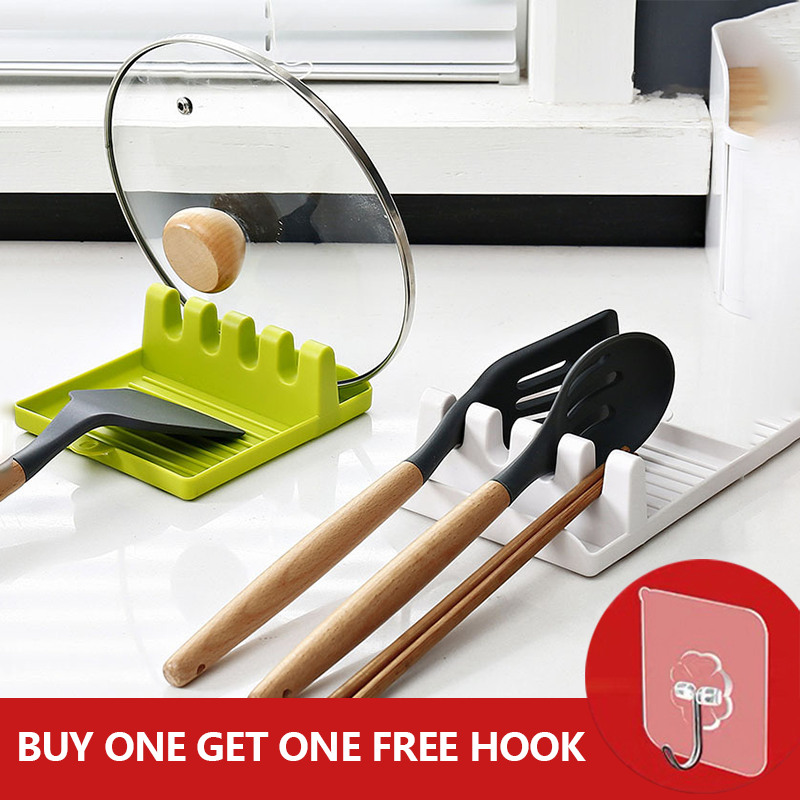 Shelf-Organizer Fork Utensil Chopsticks-Holder Spatula-Rack Spoons-Pad Non-Slip Kitchen