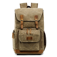 Batik Canvas Waterproof Photography Bag Outdoor Wear resistant Large Photo Camera Backpack Men for Fujifilm Nikon Canon Sony