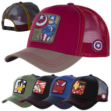 Hot Sale 20 Styles Anime Cartoons Mesh Cap Cotton Baseball Cap For Men Women Trucker Hat Gorras Casquette Dropshipping