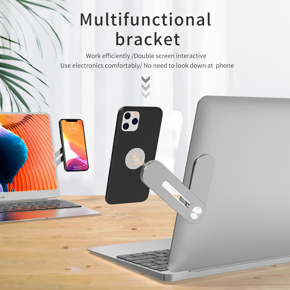 Multifunctional Bracket Metal Aluminum Alloy Laptop PC Cell Phone Holder Magnetic Business Office Application Home Net Class