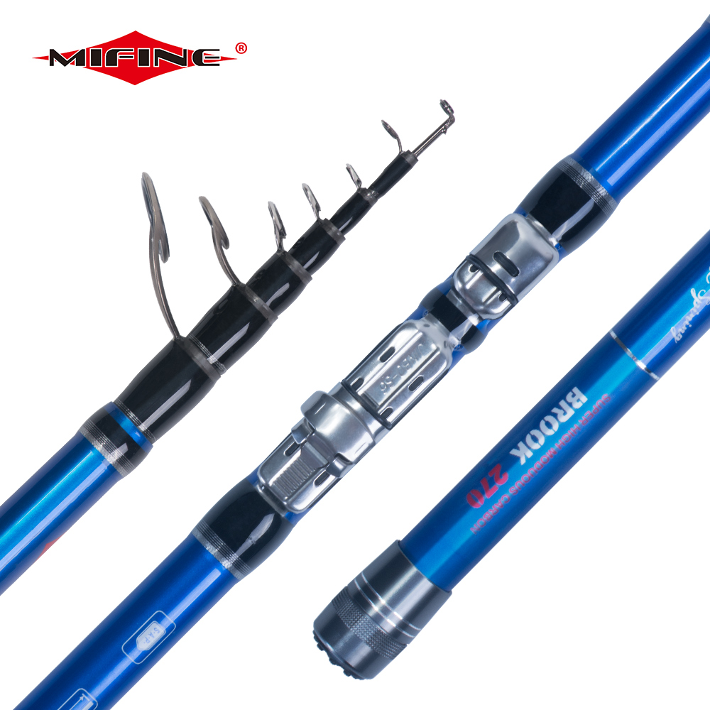 MIFINE WARWOLF Telescopic BOLO Fishing rod 2.1M/2.4M/2.7M/3M/3.6M Easy to Carry Spinning Fish Hand Sea 40g