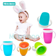 Medoboo 360 Degrees Can Be Rotated Baby Learning Drinking Cup Kids Trainning Feeding Safe Leakproof Infant Water Bottle *